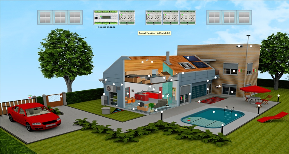building automation 3d schematic